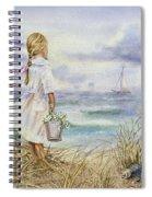 Girl And Ocean Watercolor Spiral Notebook