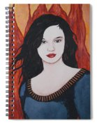 Girl Of Fire Spiral Notebook