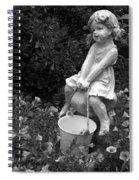 Girl On A Mushroom Spiral Notebook
