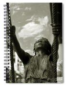 Girl On A Swing Spiral Notebook