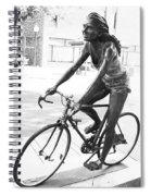 Girl On Bike Sculpture Grand Junction Co Spiral Notebook