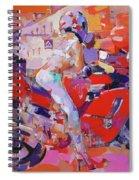 Girl On Red Bike Spiral Notebook