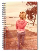 Girl On Redcliffe Travel Holiday Spiral Notebook