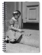 Girl Playing Jacks, C.1930-40s Spiral Notebook