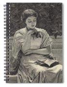 Girl Reading Spiral Notebook