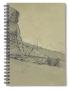 Girl Seated On A Hillside Spiral Notebook