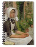 Girl Shelling Peas Spiral Notebook