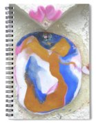 Girl Spreading Hearts Spiral Notebook
