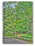 Girl Uninterrupted In Central Park Spiral Notebook