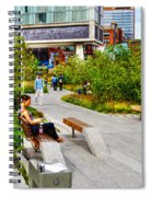 Girl Uninterrupted On The High Line Spiral Notebook