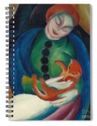 Girl With A Cat II Spiral Notebook