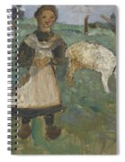 Girl With A Goat  Spiral Notebook
