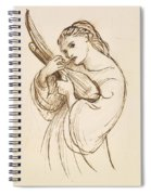 Girl With A Musical Instrument Spiral Notebook