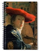 Girl With A Red Hat Spiral Notebook