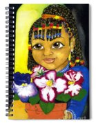 Girl With African Violet Spiral Notebook