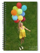 Girl With Air Balloons Spiral Notebook