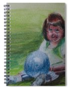 Girl With Ball Spiral Notebook