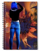 Girl With Blue Hair Spiral Notebook