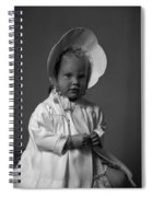 Girl With Bonnet And Curls Spiral Notebook