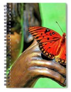 Girl With Butterfly Spiral Notebook