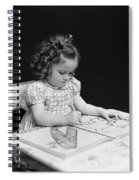 Girl With Coloring Book, C.1960-40s Spiral Notebook