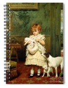 Girl With Dogs Spiral Notebook