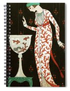 Girl With Fish Bowl Spiral Notebook