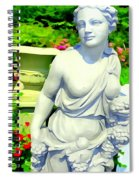 Girl With Grapes In Garden Spiral Notebook