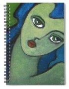 Girl With Green Eye Spiral Notebook