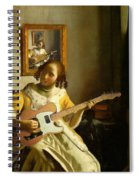Girl With Guitar Spiral Notebook