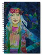 Girl With Kaleidoscope Eyes Spiral Notebook