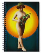 Girl With Leaves Spiral Notebook