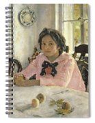 Girl With Peaches Spiral Notebook