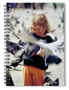 Girl With Pigeons Spiral Notebook