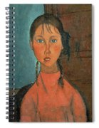 Girl With Pigtails Spiral Notebook