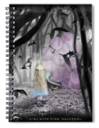 Girl With Pink Balloons Spiral Notebook