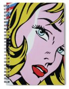 Girl With Ribbon Spiral Notebook