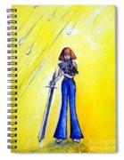 Girl With Sword. Astral Traveler Spiral Notebook