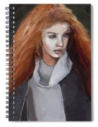 Girl With The Red Hair Spiral Notebook
