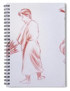 Girl With Umbrella 3 Spiral Notebook