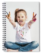 Girl With Victory Sign Sticking Out Her Tounge Spiral Notebook