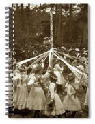 Girls  Doing The Maypole Dance Pacific Grove Circa 1890 Spiral Notebook