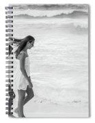 Girls On Beach Spiral Notebook