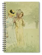 Girls Strolling In An Orchard Spiral Notebook