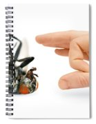 Give Pests The Flick Spiral Notebook