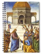 Giving Of The Keys To Saint Peter Spiral Notebook