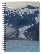 Glacial Curves Spiral Notebook