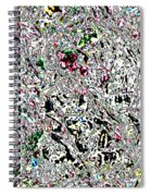 Glacier Abstract Spiral Notebook