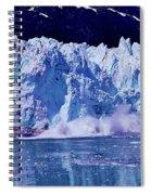 Glacier - Calving - Reflection Spiral Notebook