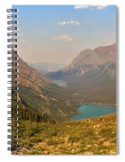 Glacier Chain Of Lakes Spiral Notebook